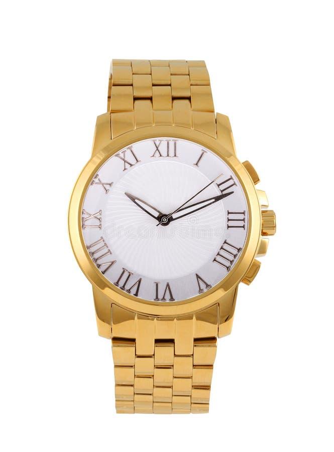 Montre-bracelet moderne d'or photographie stock