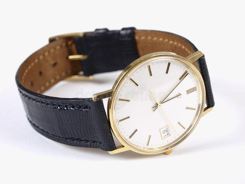 Montre d'or photographie stock libre de droits