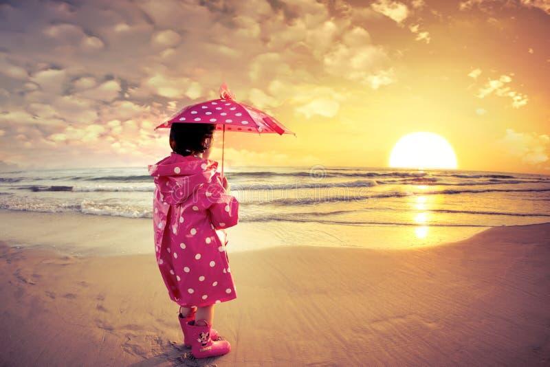 montre de coucher du soleil images stock