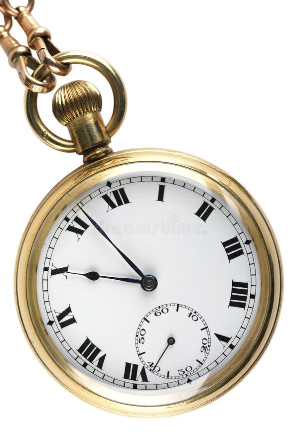 montre de cru de poche d'or images stock