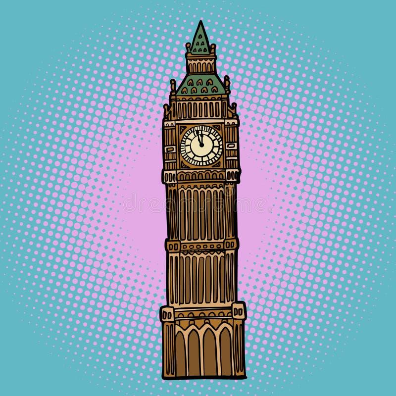 Montre de Londres Big Ben illustration de vecteur