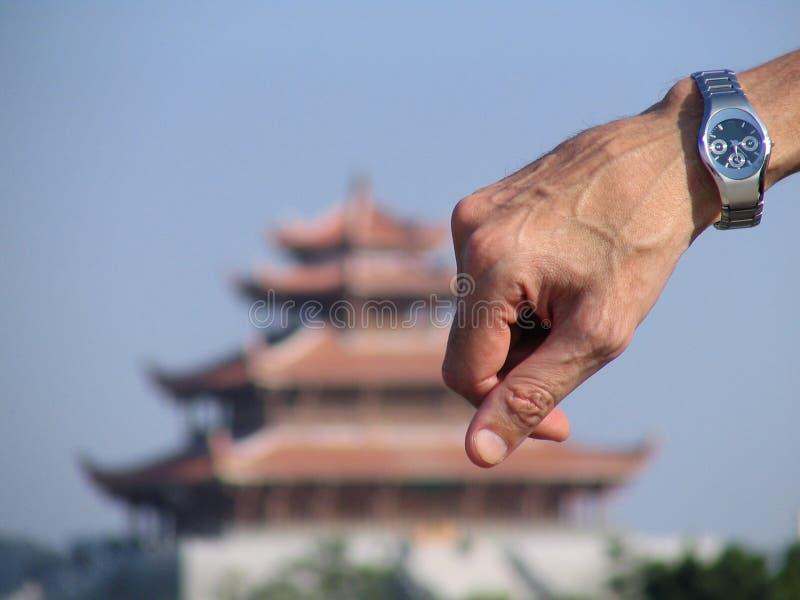 Montre et pagoda chinoise antique photos libres de droits