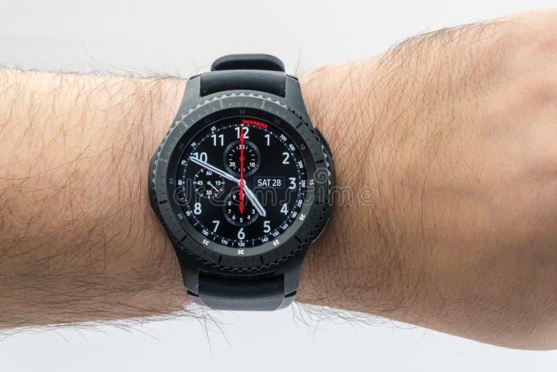 Montre intelligente de la vitesse S3 de Samsung photo libre de droits