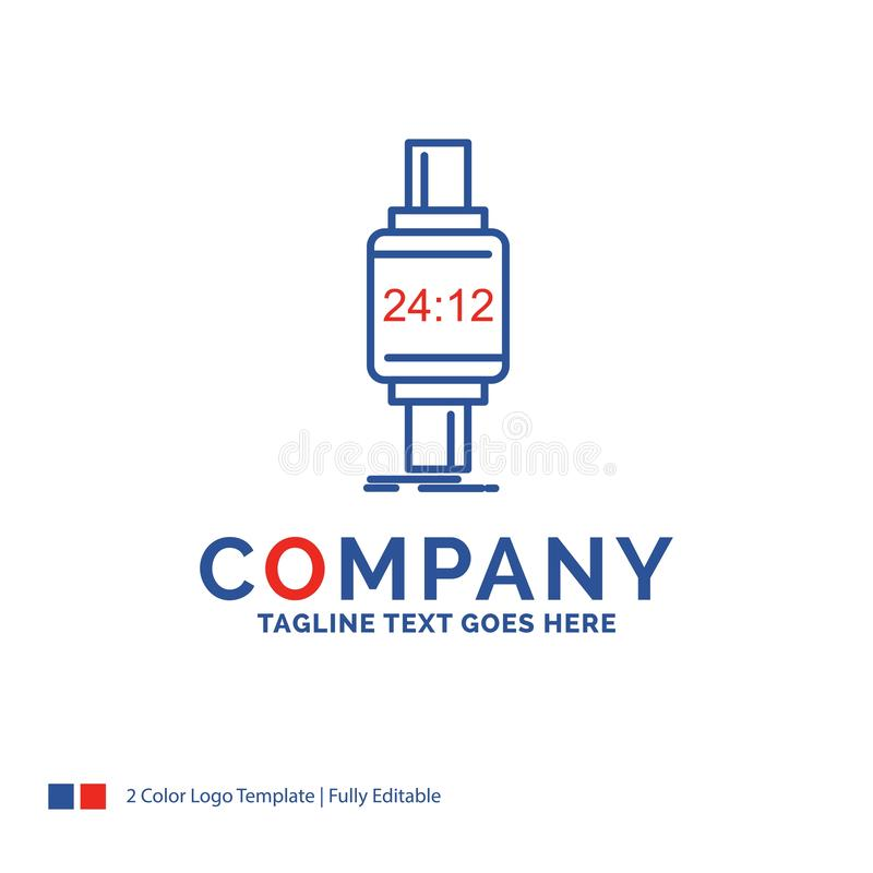 Montre intelligente de Logo Design For de nom de la société, smartwatch, montre, appli illustration stock