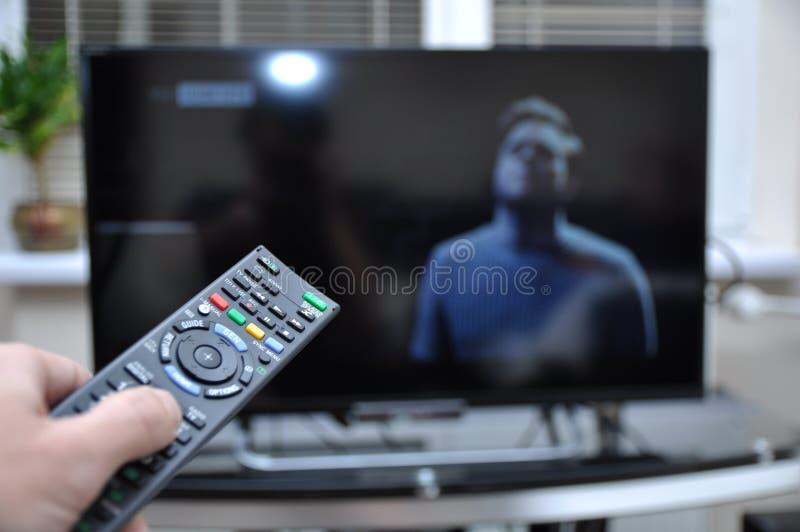 Montre TV image libre de droits