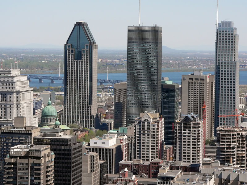 Download Montreal stock image. Image of green, downtown, bridge - 166899