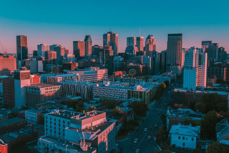 Montreal aérea imagenes de archivo