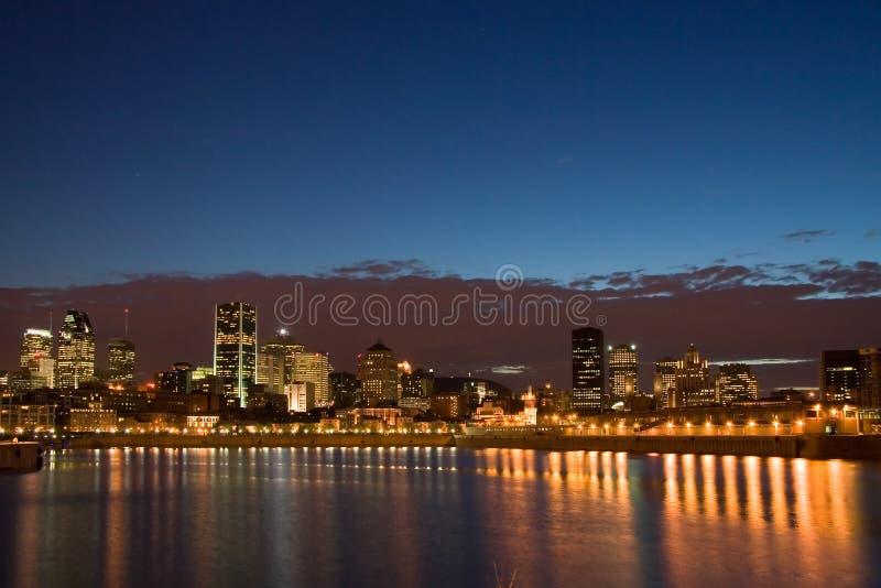 Montreal alla notte immagini stock