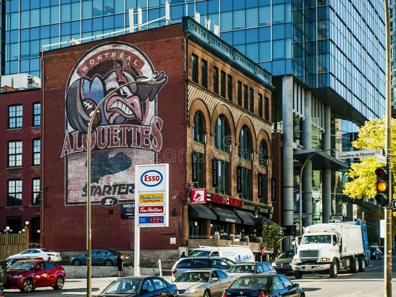 Montreal Alouettes futbolu klub obraz stock
