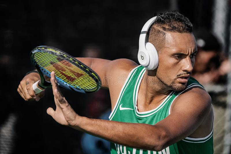 Montreal - AUGUST 5. Nick Kyrgios, professional tennis player royalty free stock images