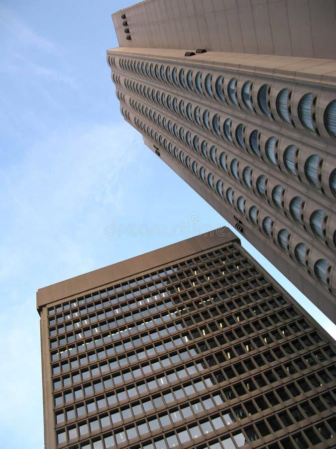 Montreal-Bürowolkenkratzer lizenzfreie stockfotos