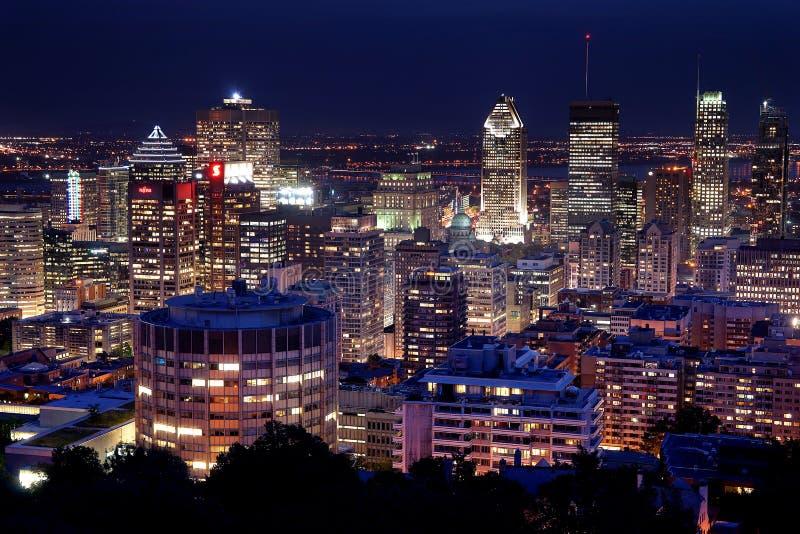 Montreal bij Nacht stock foto