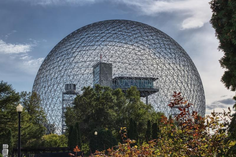 Montreal biodome stock image