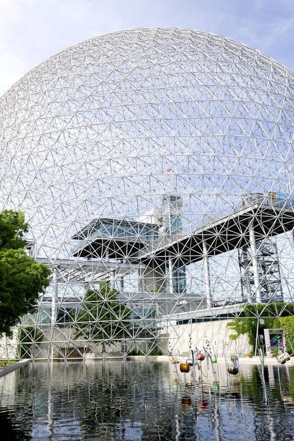 Montreal bioshpere. The United States of America's pavillion from the 67 expo in Montreal, was turned into an environment museum, showing people the importance royalty free stock image