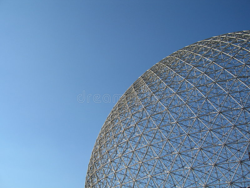 Montreal Biosphere. From expo '67 stock photography