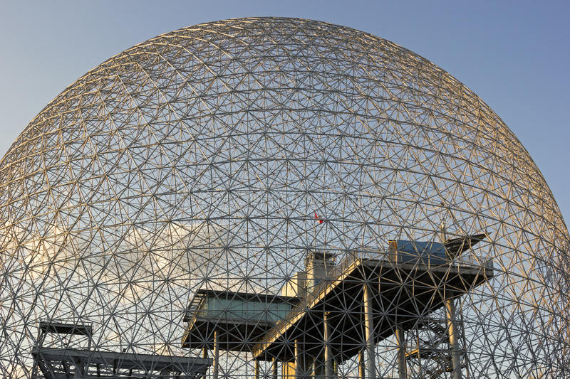 Montreal Biosphere Environmental Museum. In Canada. Photo taken on: July 11th, 2014 royalty free stock image