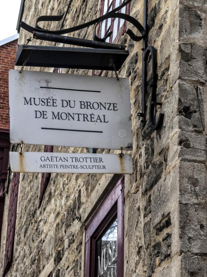 Montreal Bronze Museum. Born as a personal initiative, the art gallery of the Montreal Bronze Museum was founded by artist Gaetan Trottier in January 2008 royalty free stock images