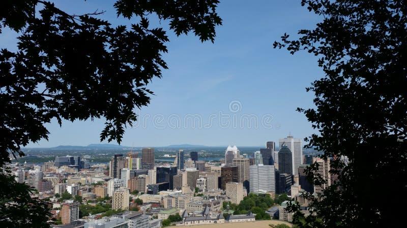 Montreal céntrica imagen de archivo libre de regalías