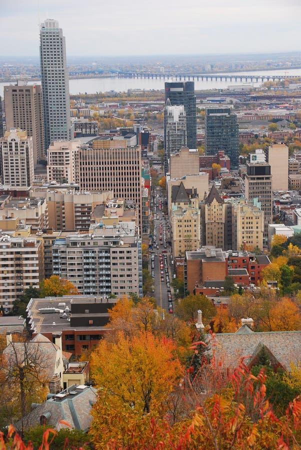 Montreal céntrica durante caída fotos de archivo libres de regalías