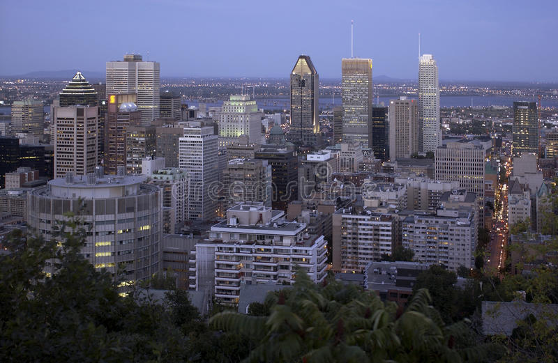Montreal - Canada. Montreal viewed from the Parc Mont Royal viewpoint. Quebec Province in southeastern Canada stock images