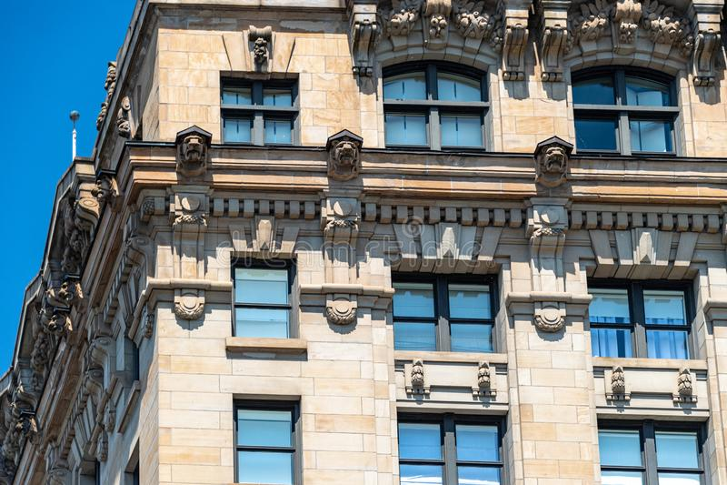 Montreal, Canada, architecture of old buildings stock images