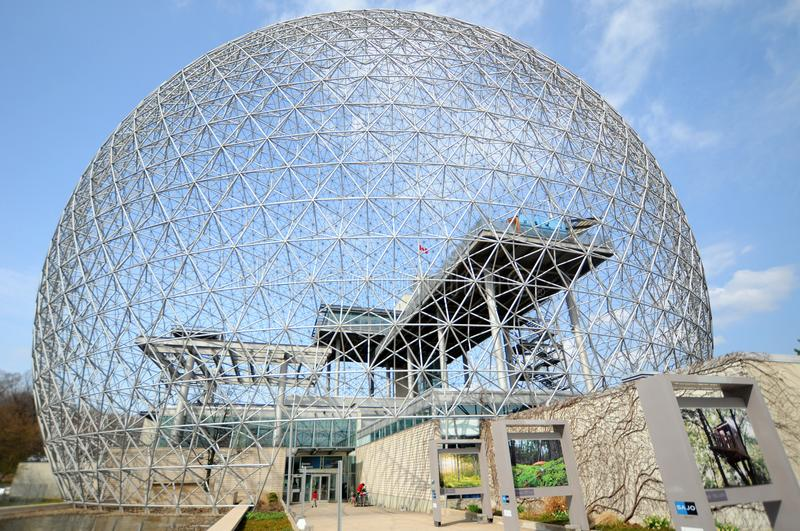 The Biosphere is a museum in Montreal royalty free stock image