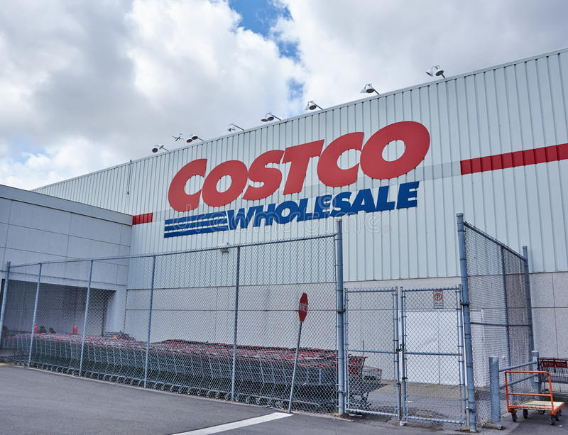 Costco Wholesale store and logo royalty free stock photos