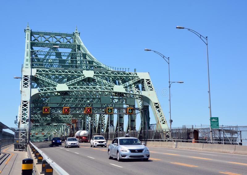 The Jacques Cartier Bridge stock images