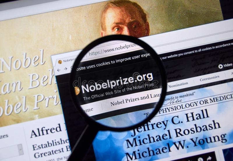 download nobel prize web page editorial stock image image of coat 101153254