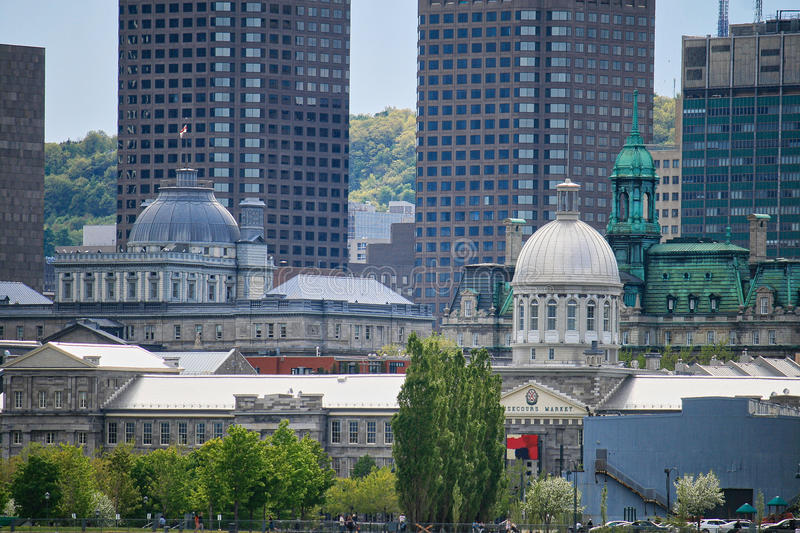 Montreal, Canada - old port. Historic building in the old port of Montreal, Quebec, Canada royalty free stock image