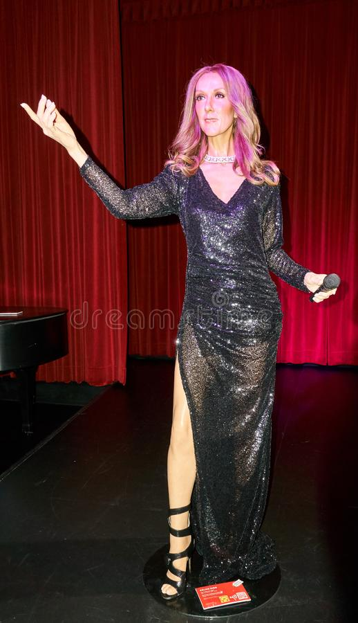wax figure of Celine Dion royalty free stock image
