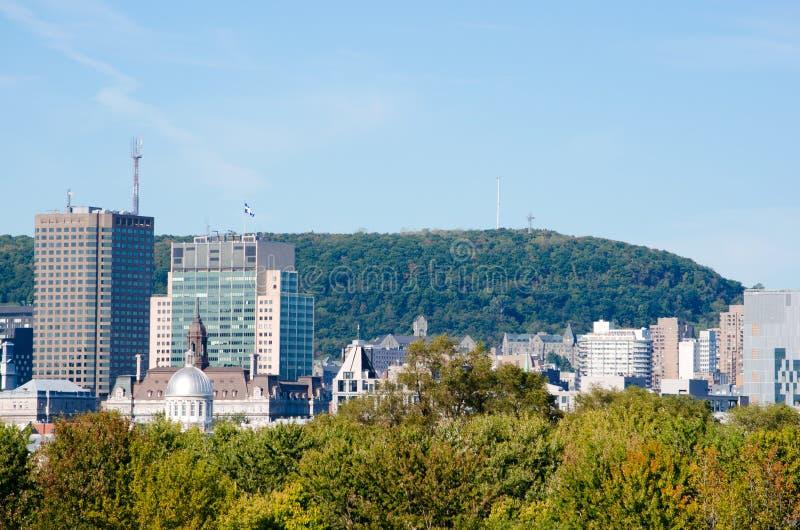 Montreal centra och montera-kunglig person royaltyfria bilder