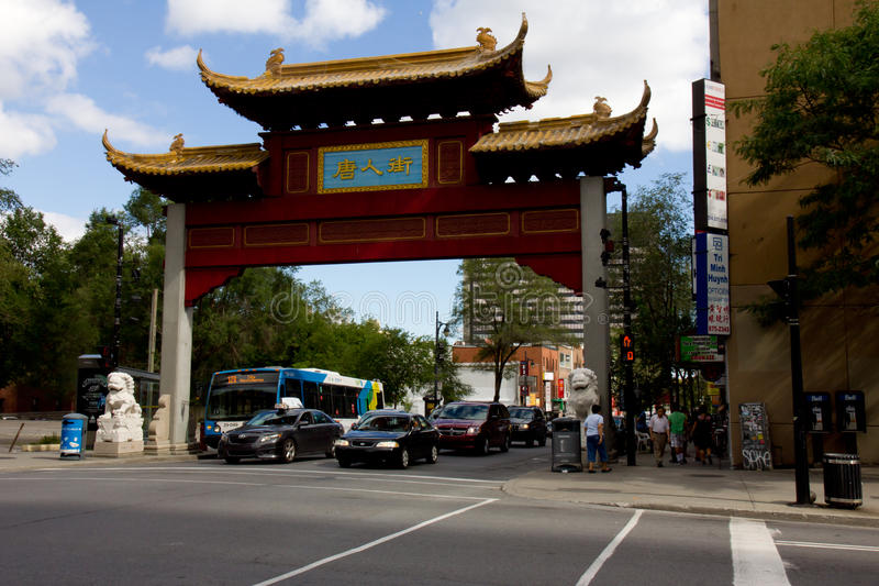 Montreal Chinatown stockbild
