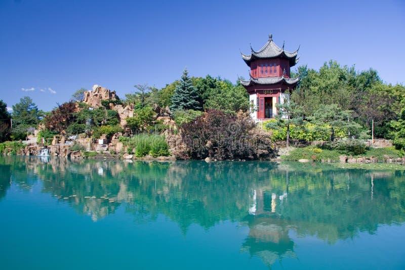 Montreal Chinese Garden stock photo