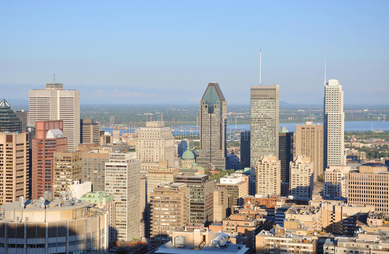 Montreal city skyline, Quebec, Canada stock photos