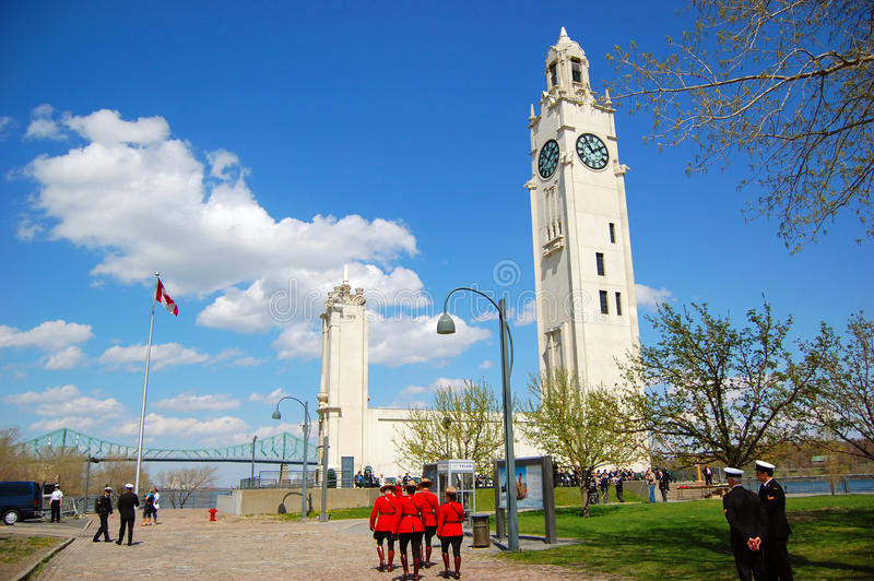 Montreal Clock Tower, Old Montreal, Canada royalty free stock photos