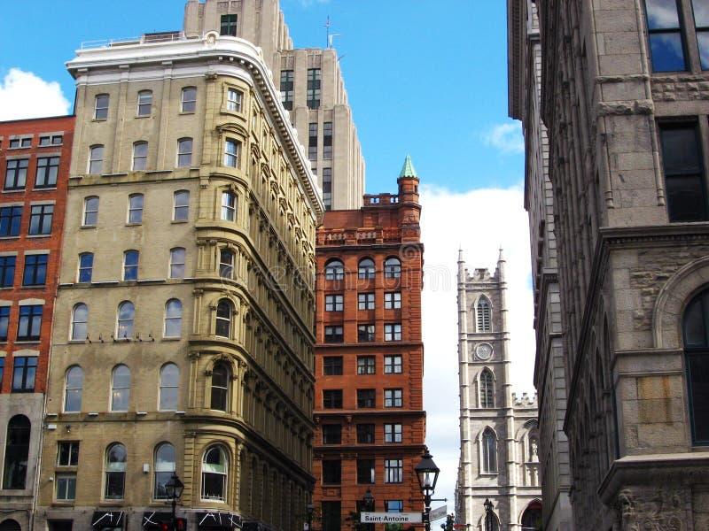 Montreal da baixa imagens de stock royalty free
