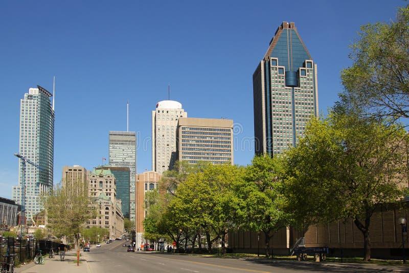 Montreal de stad in stock foto's