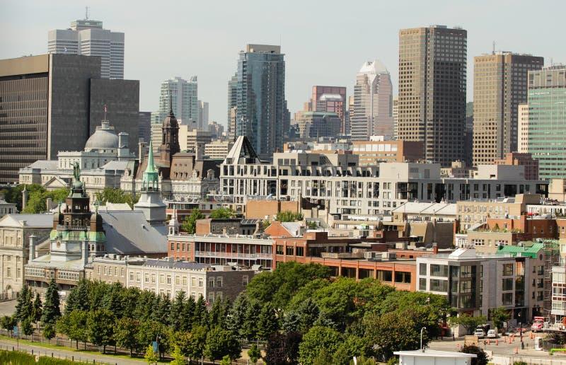 Montreal de stad in royalty-vrije stock fotografie