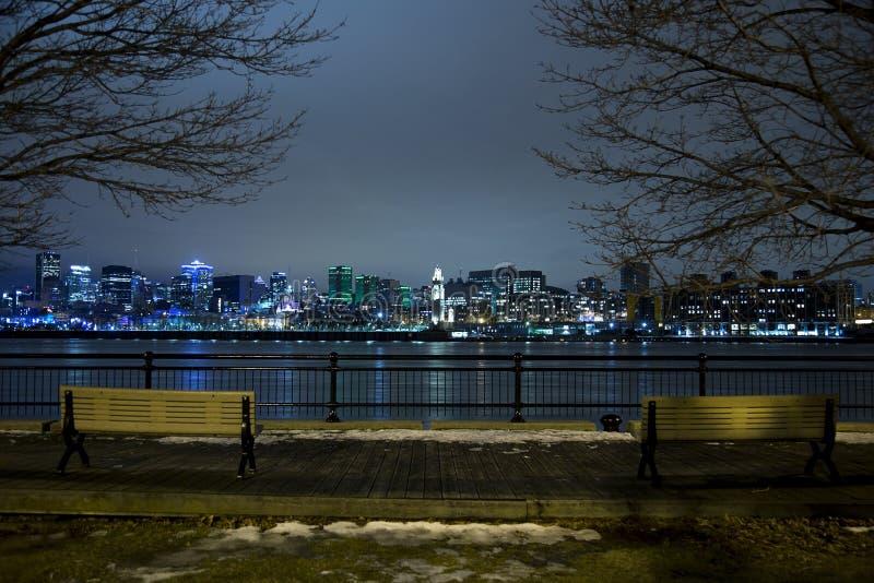 Montreal de stad in royalty-vrije stock foto's