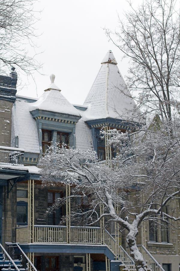 Download Montreal in de winter stock afbeelding. Afbeelding bestaande uit straat - 29500341