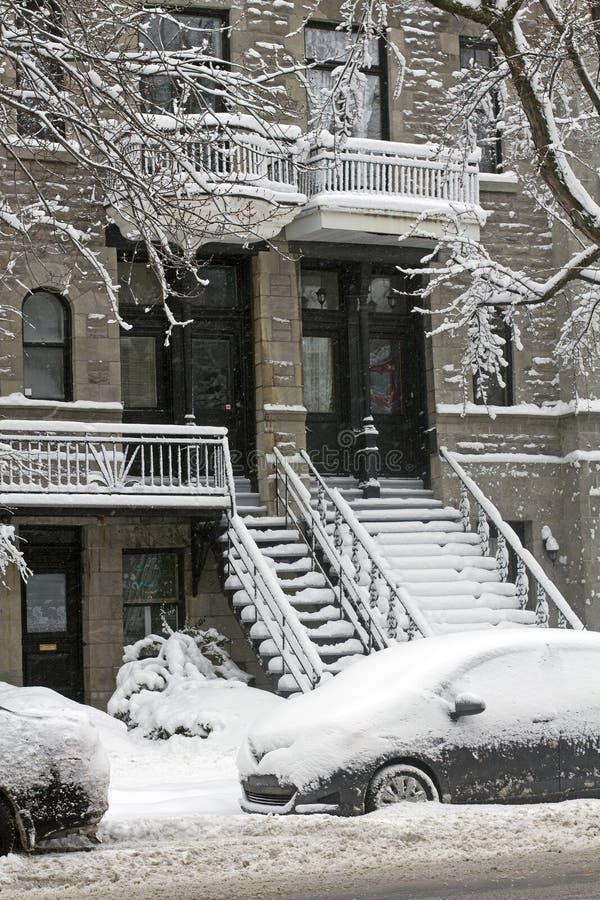 Download Montreal in de winter stock afbeelding. Afbeelding bestaande uit openlucht - 29500365
