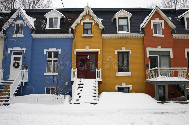 Montreal in de winter stock afbeelding