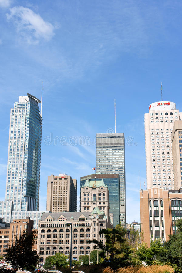 Montreal downtown skyscrapers stock photo