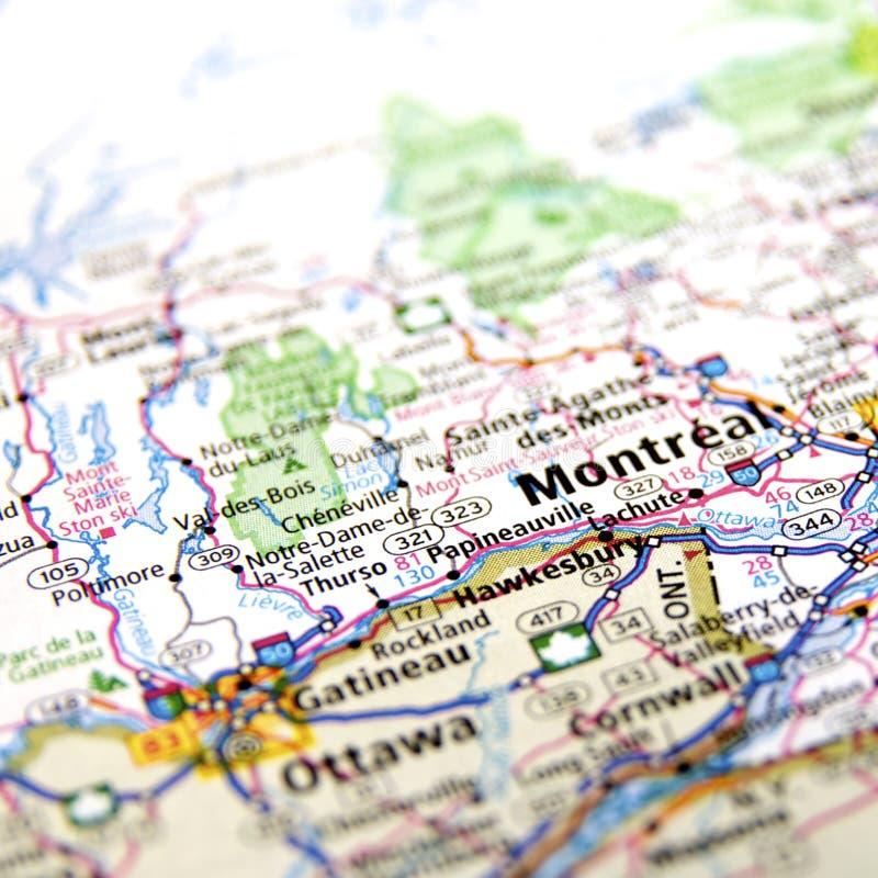 Montreal e Ottawa imagem de stock
