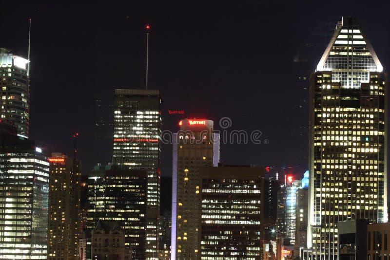 Montreal em a noite foto de stock royalty free