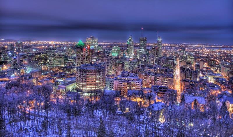 Montreal en la noche imagen de archivo