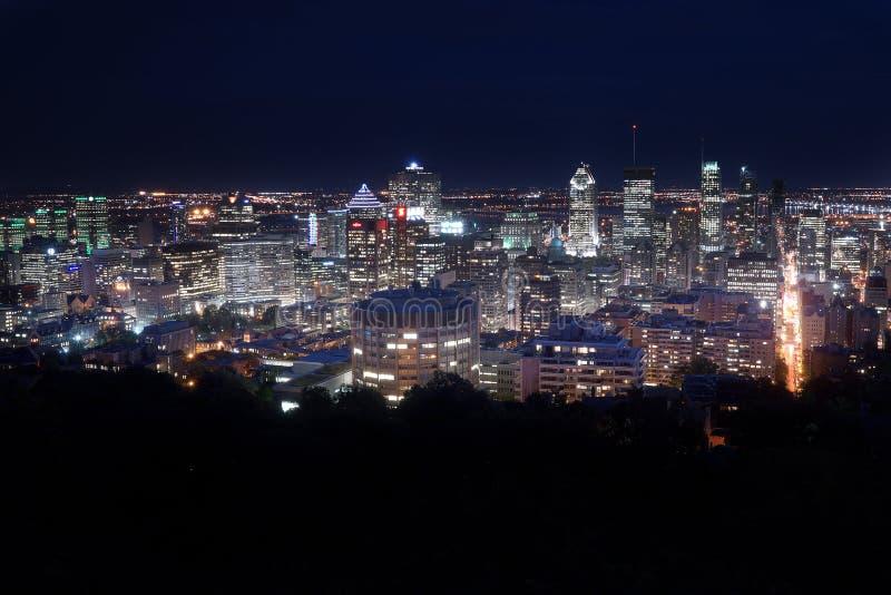 Montreal en la noche imágenes de archivo libres de regalías