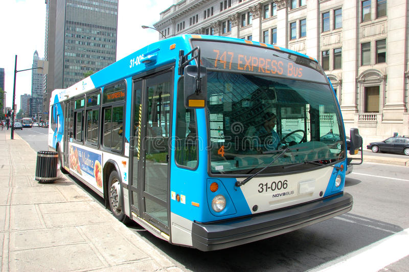 Download Montreal Express Bus editorial photography. Image of idea - 20663587