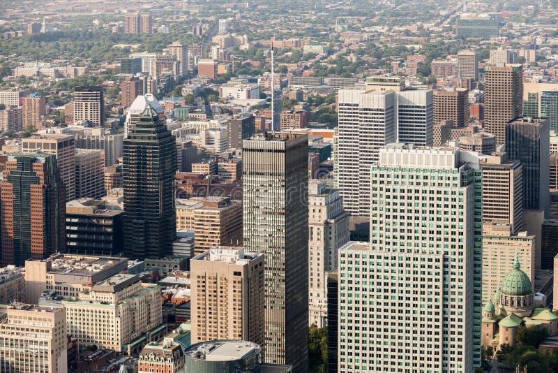 Montreal flyg- sikt arkivbild